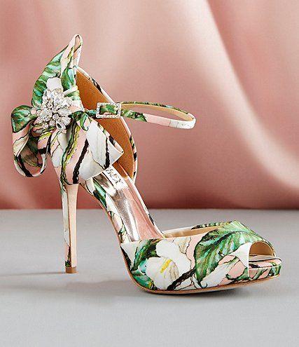 682f7f69454 Shop for Badgley Mischka Samra Floral Satin Bow Rhinestone Detail Dress  Sandals at Dillards.com. Visit Dillards.com to find clothing