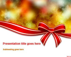 Christmas Bow Powerpoint Template Christmas 2013 New Powerpoint