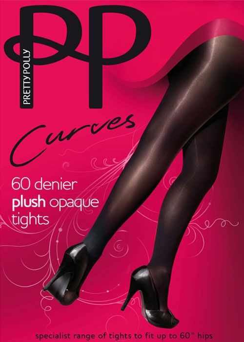 201e1b48442 Pretty Polly 60 Denier Curves Plush Opaque Tights. With comfort waistband  and matt leg. £10 at UKTights  plussize  stockings