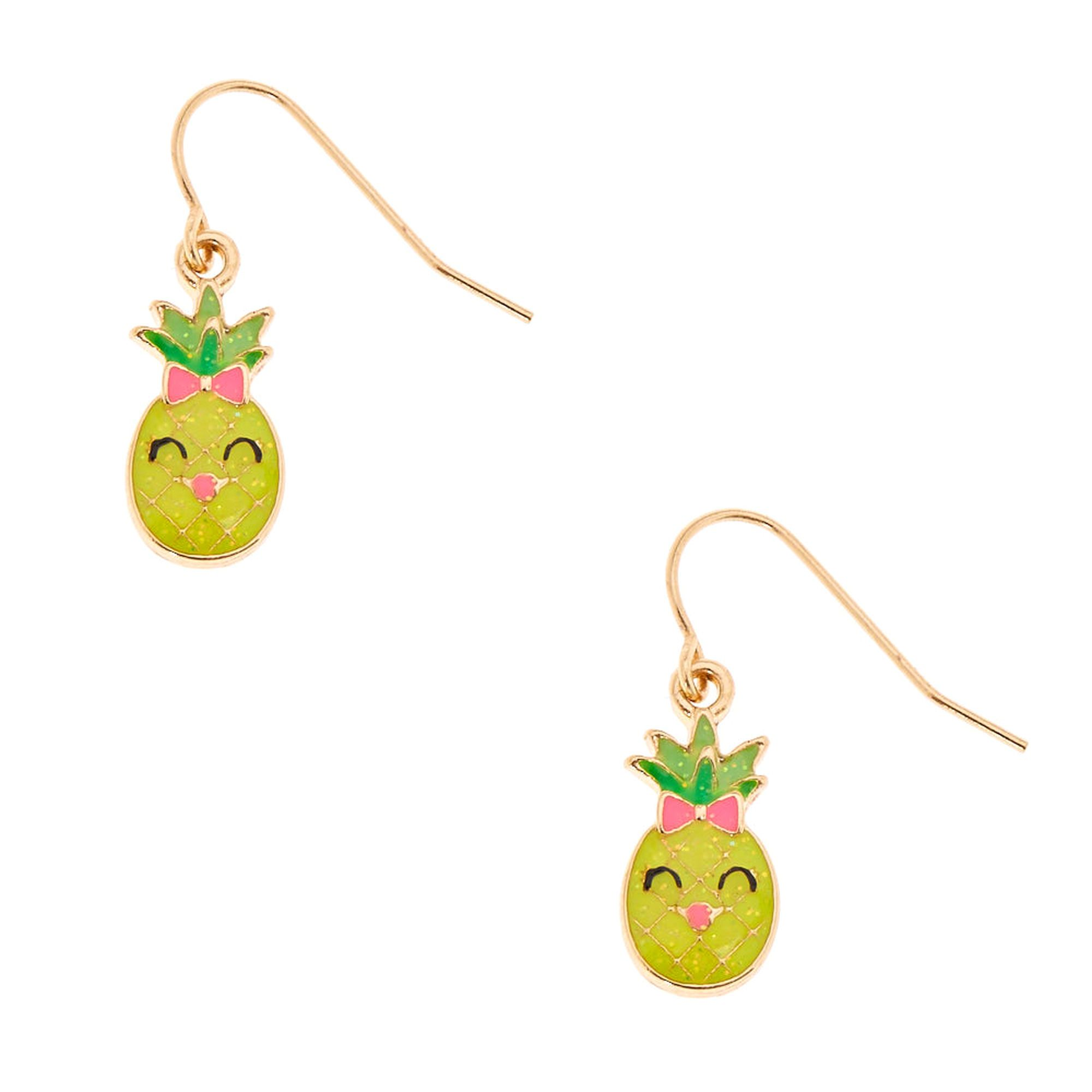 5048aab77 Claire's Happy Pineapple Drop Earrings | Virtual Closet ...