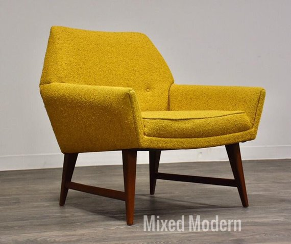 On Holdyellow Mid Century Modern Lounge Chair In 2020 Mid