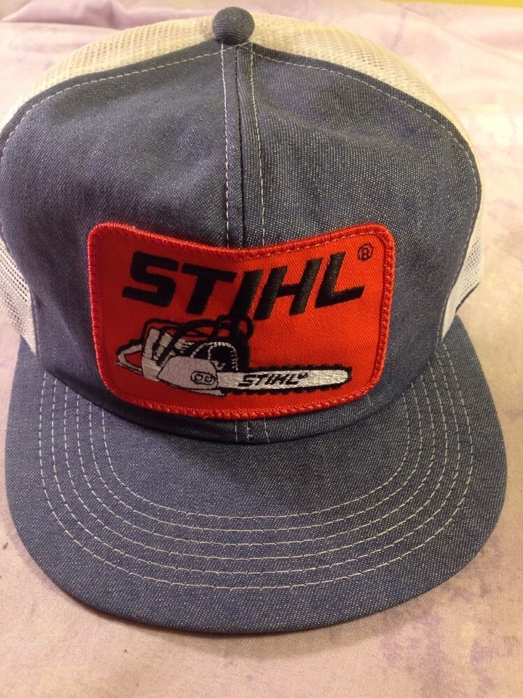 ea46c7226aba0 Vintage STIHL Chainsaw Baseball Cap Hat Retro Trucker Adjustable Snapback   STIHL  TruckerHat
