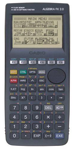 Casio Algebra FX 2 0 Graphing Calculator by Casio  $120 00