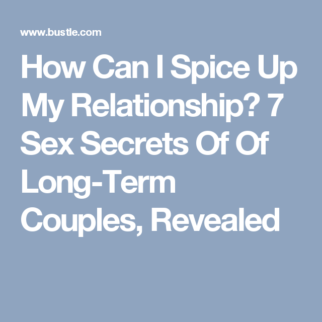 Spice up my marriage sexually