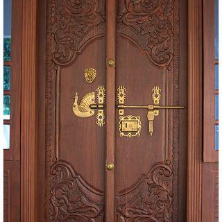 image result for double door design home india door design