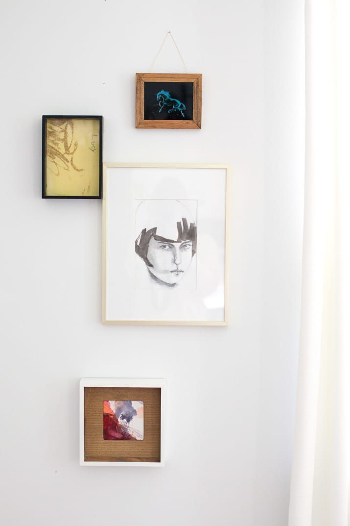 Get more inspiration on who to pull together an eclectic mix of frames from A Beautiful Mess. Get a set of 10 frames from Amazon for $35.