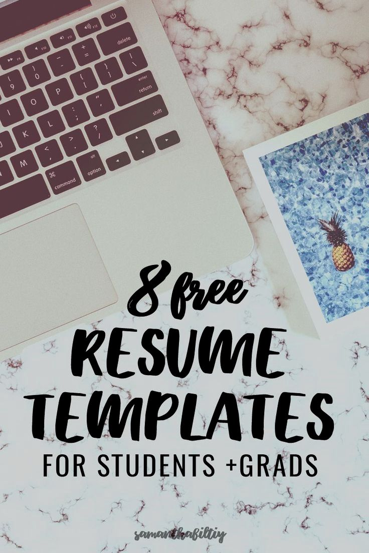 Eye catching free resumes for college students and grads