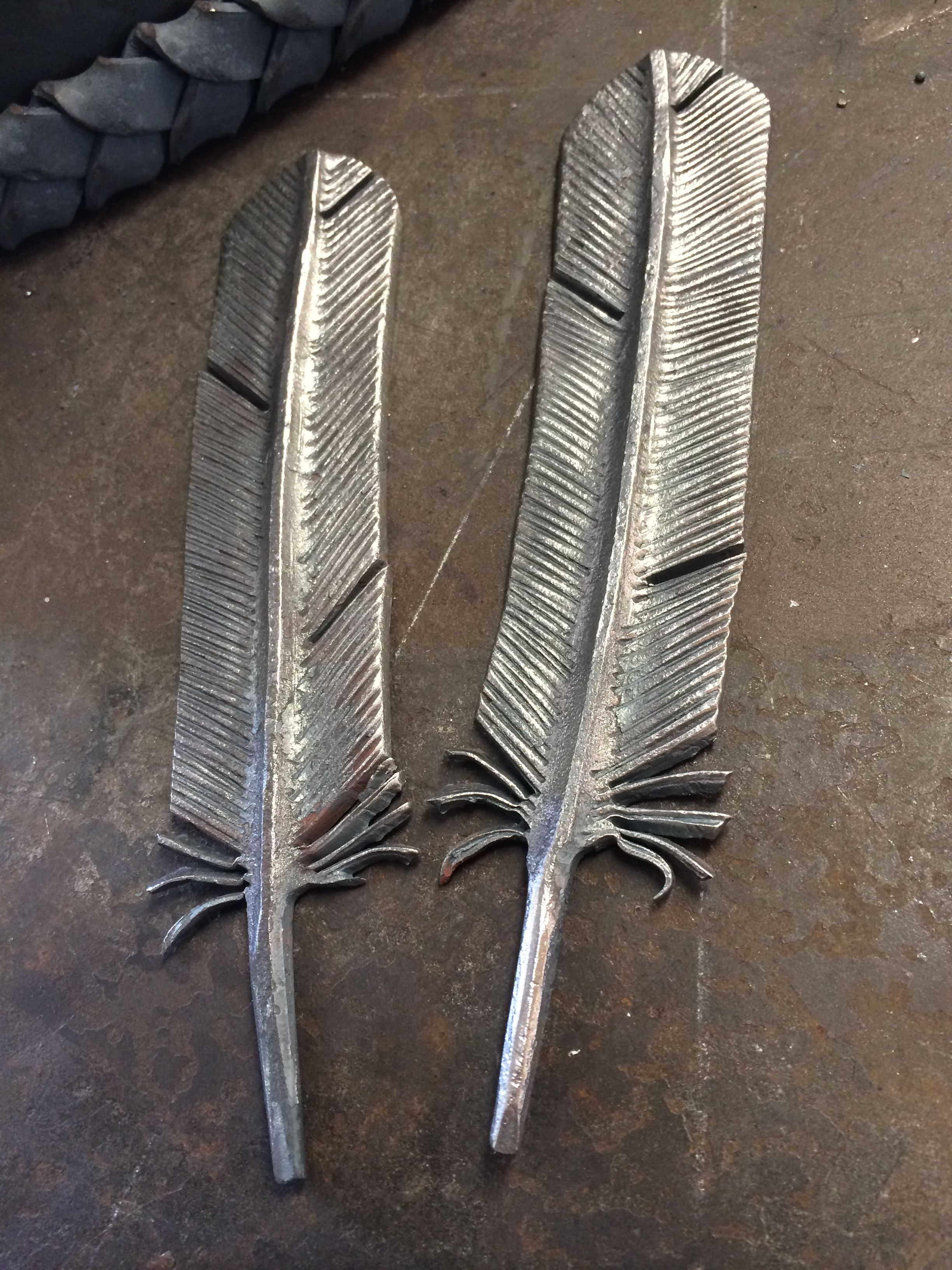 Ironton Forge Hand Forged Feathers For A Chandelier