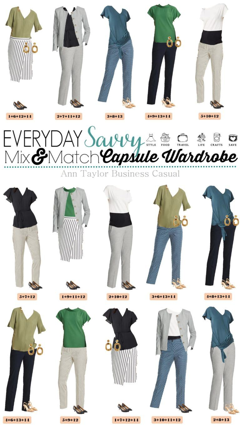 This Classy Ann Taylor business casual capsule wardrobe will have you looking great at