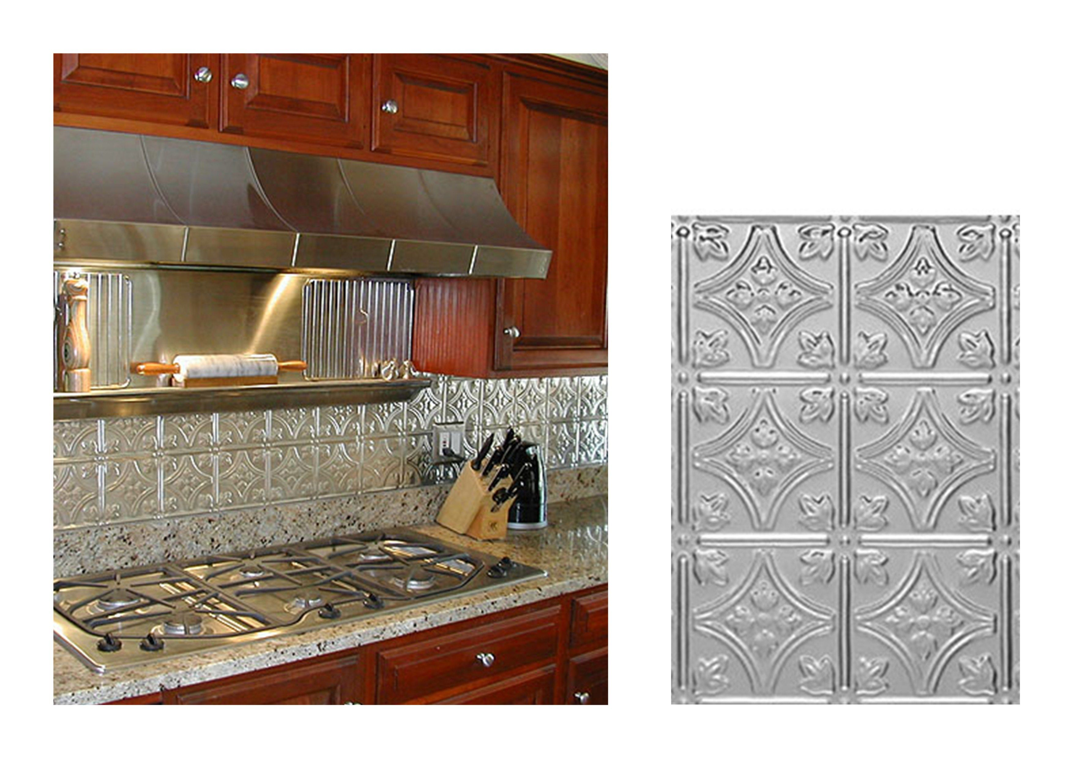 Kitchen with princess victoria metal backsplash ceiling tile ideas ceiling tiles dailygadgetfo Gallery