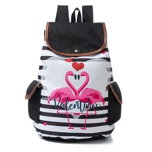 f2df1ce12faec Rainbow Flamingo Time Rucksack Backpack Kawaii Cute
