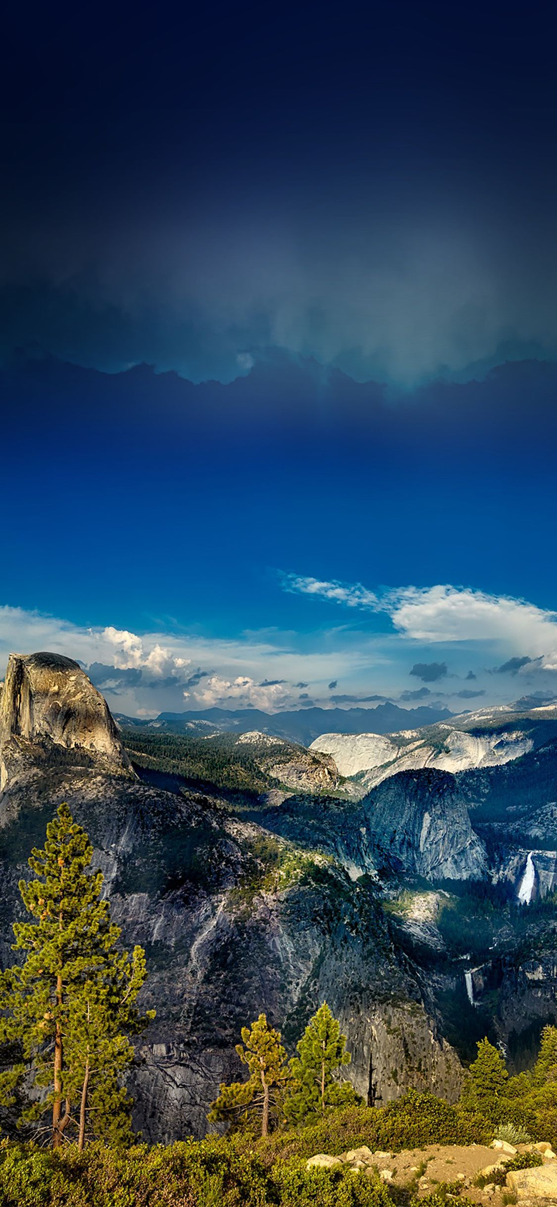 Iphone X Wallpaper Nq61 Yosemite Mountain Wood Summer Nature