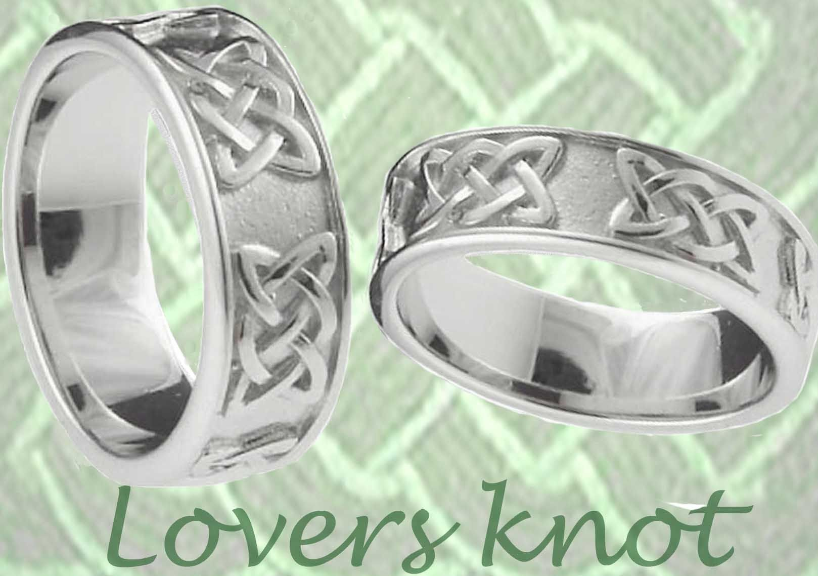 Silver Lovers Knot Celtic Band Ring Set Celtic Ring Set Wedding Rings Irish Wedding Rings