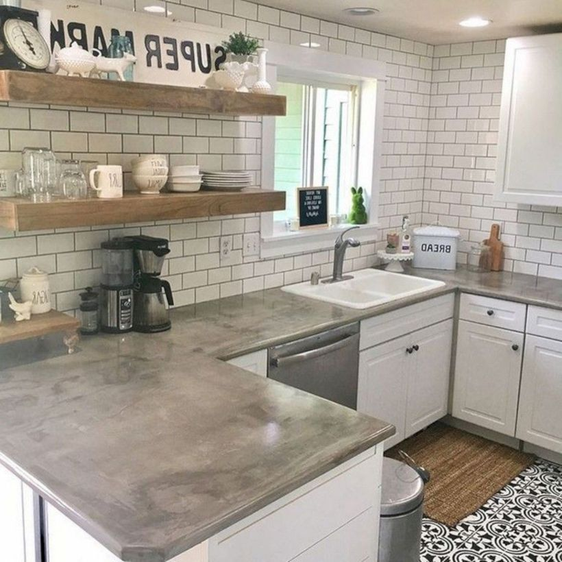52 Amazing and Stylish Kitchen with Concrete Countertop ...