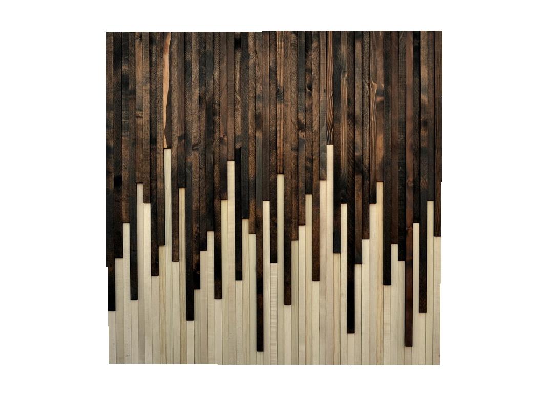wood wall art - reclaimed wood art sculpture - drip design