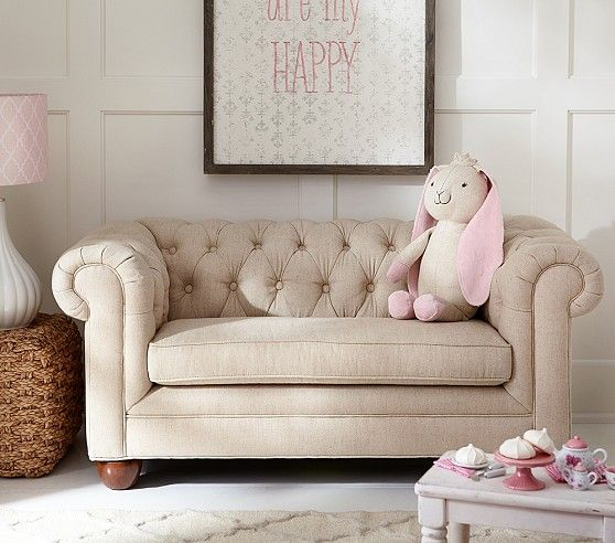 Chesterfield Mini Sofa Pottery Barn Kids Playroom Furniture Decor
