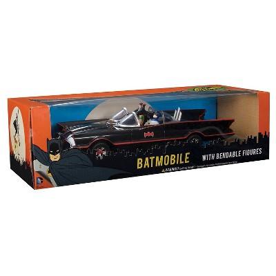 DC Comics Batman Classic TV Series Batmobile, Batman and Robin Action Figures