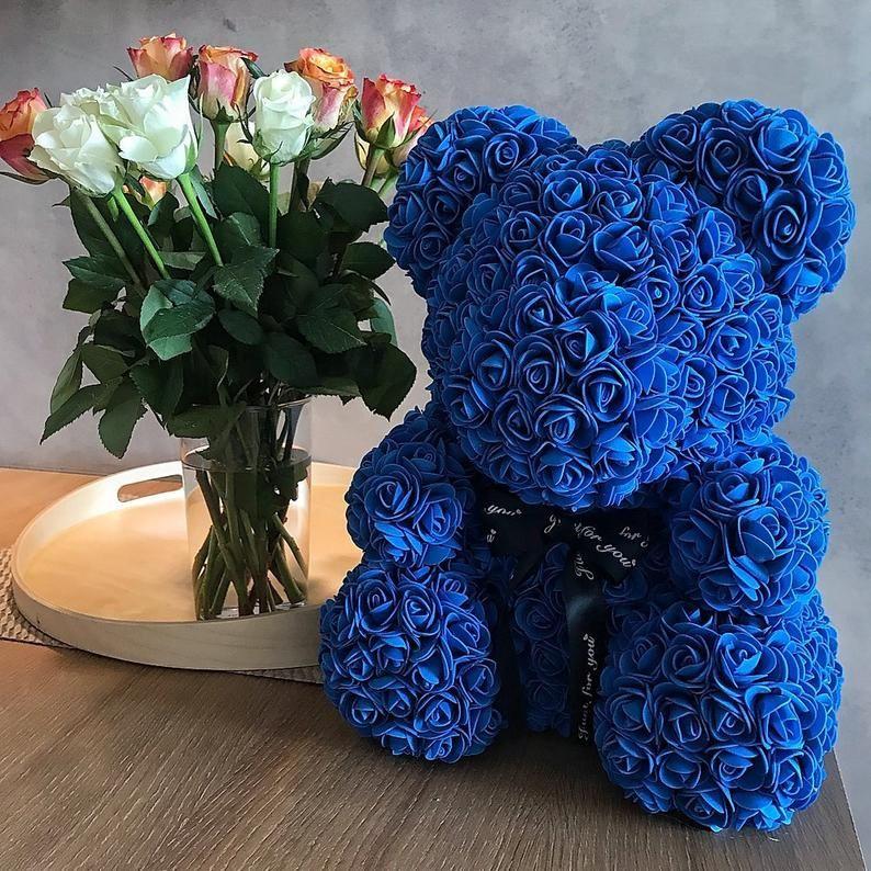 Rose Bear Luxury Rose Teddy Bear Forever Rose Teddy Rose Bear Flower Bear In 2020 Best Friend Gifts Forever Rose Rose