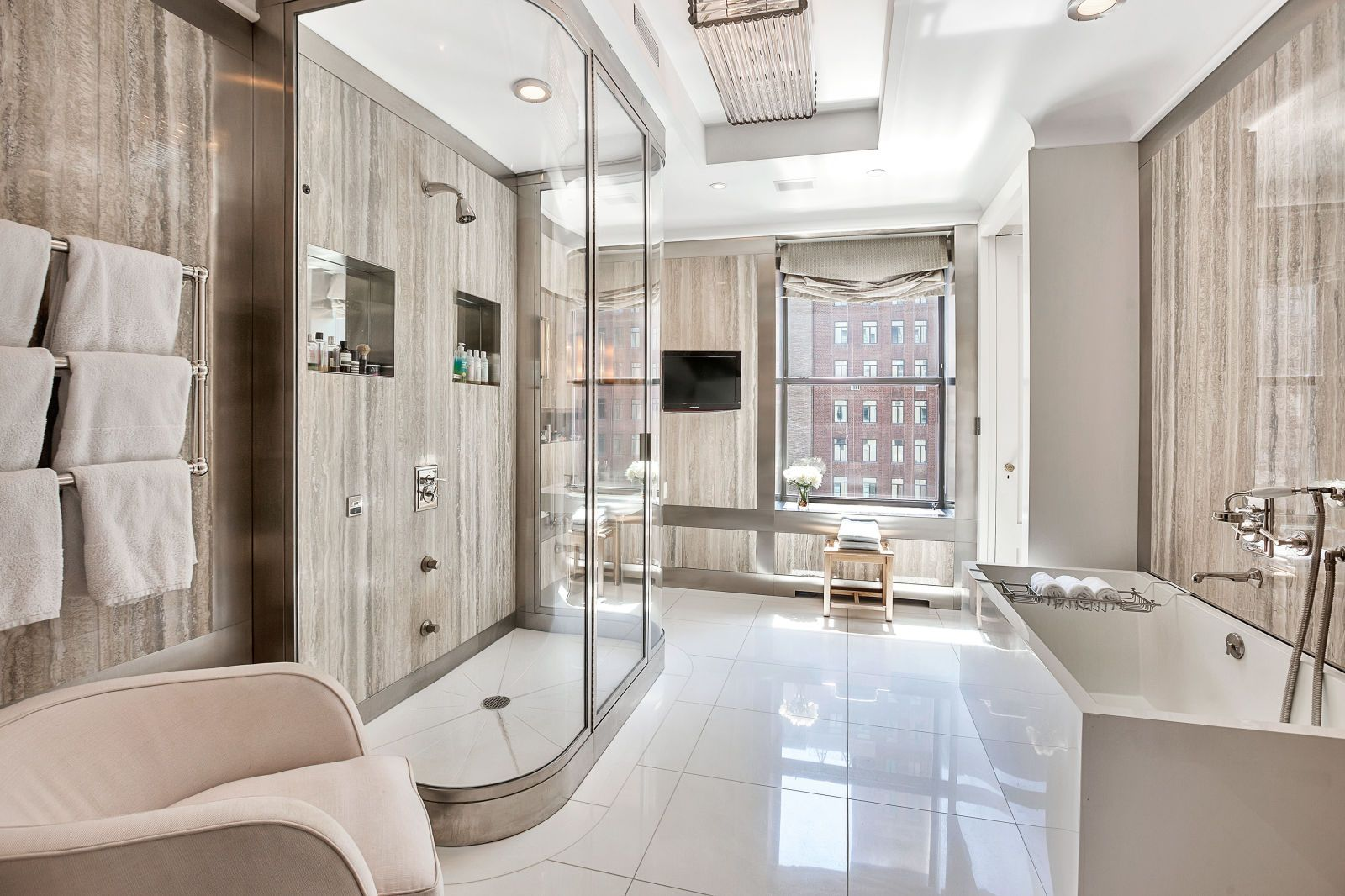Images Photos One of the Master Bathrooms See Inside Jackie Kennedy us Park Avenue Apartment The duplex