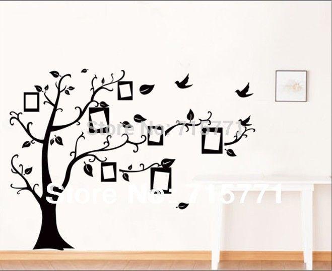 Günstige Stammbaum wand decalremove wand kleben foto baum - wandtattoo braune wand