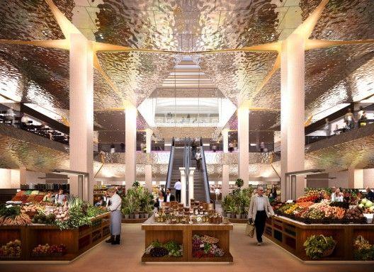 Food retail and restaurant space in Moscow. Design: Lifschutz Davidson Sandilands