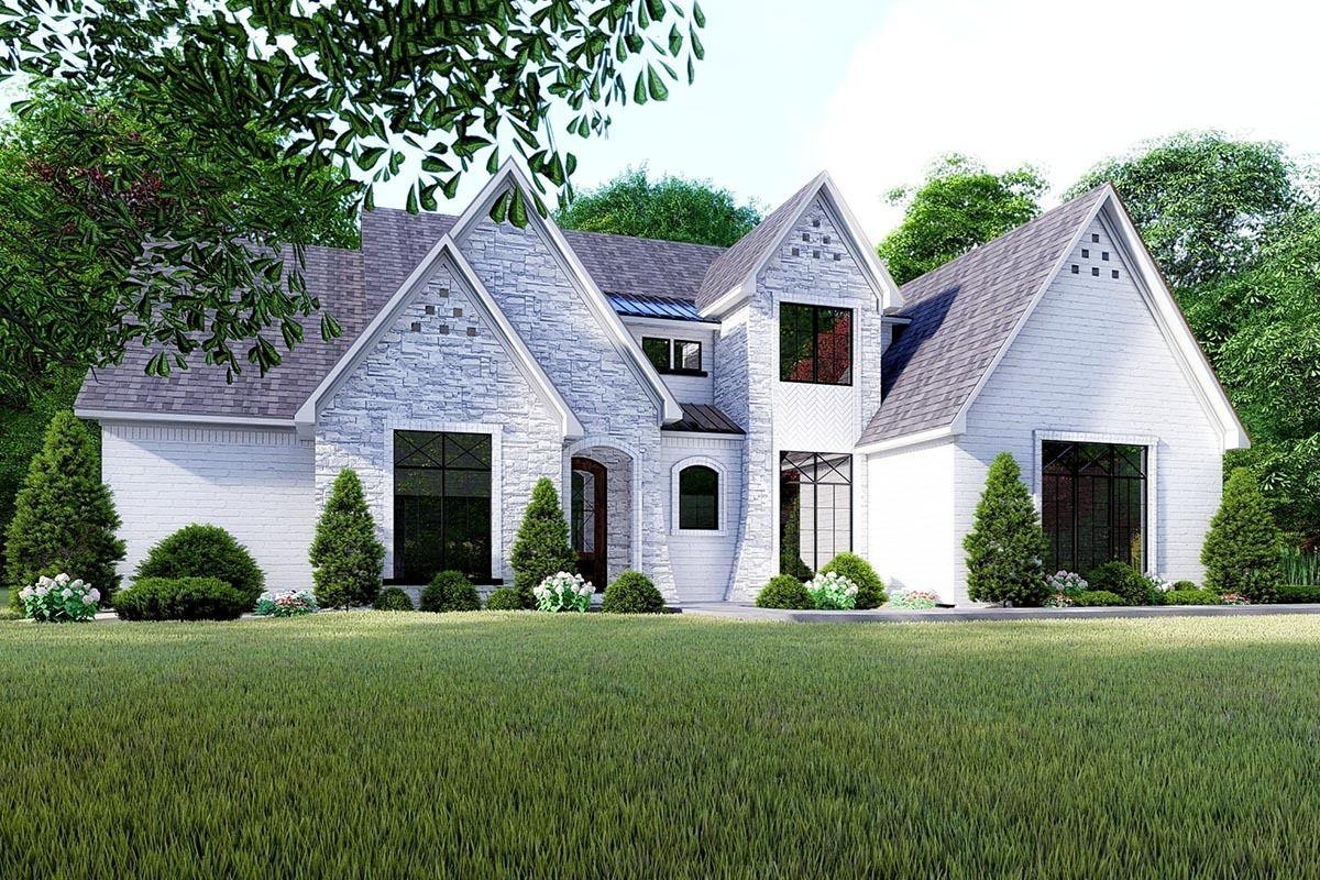 Plan 70624mk Stunning French Country House Plan With Split Beds French Country House Plans French Country House Country House Plan