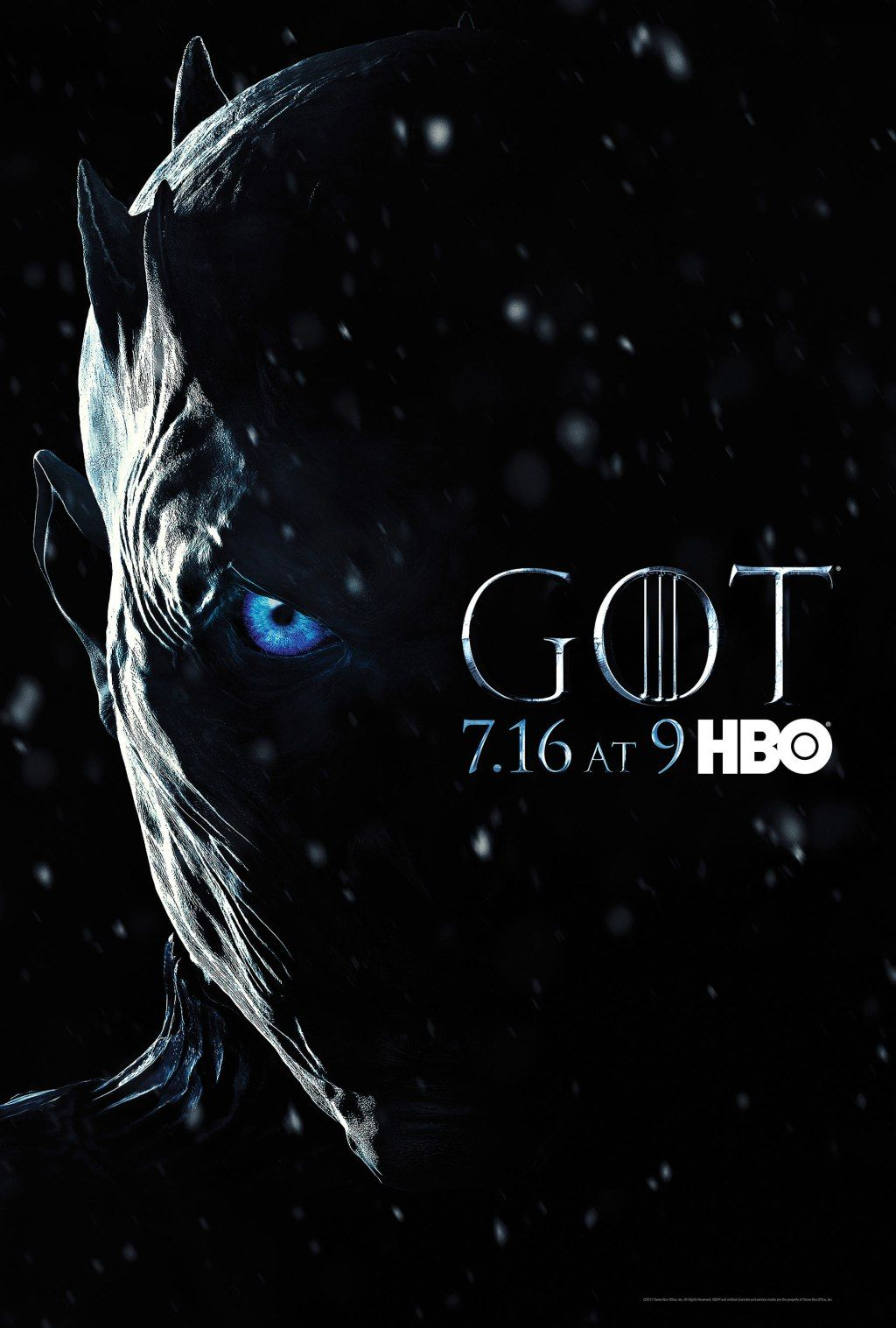 Game Of Thrones Season 7 Poster The Night King Is Totally Creepy