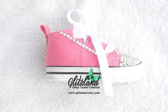 fa2b5172f17e Swarovski CONVERSE Chuck Taylor First Star Infant Bootie blinged with  SWAROVSKI® Crystals- Many Colors