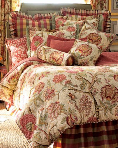 Victorian Bedding Comforters Quilts Rose Trees King Comforter
