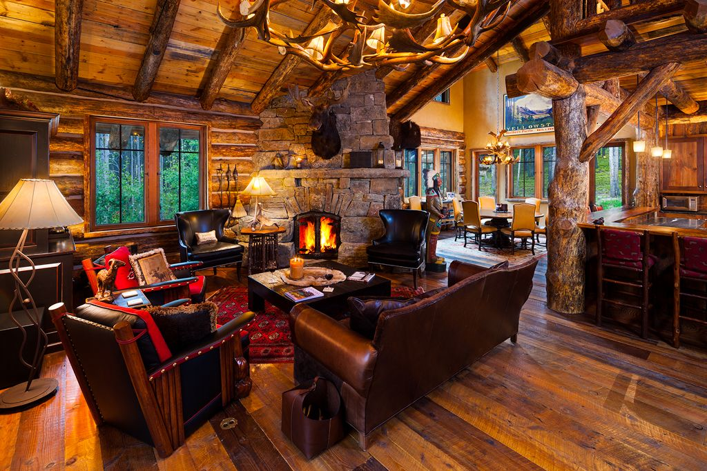 Best Rustic Love Love The Layout Open Concept Kitchen Dining 640 x 480