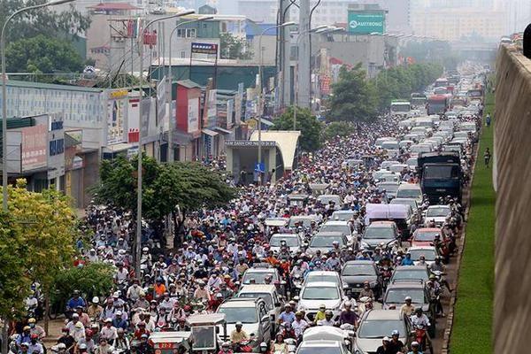 "Thanh Nien NewsさんはTwitterを使っています: ""#Traffic on #Hanoi beltway, this morning http://t.co/KLr66Zt5VE"""
