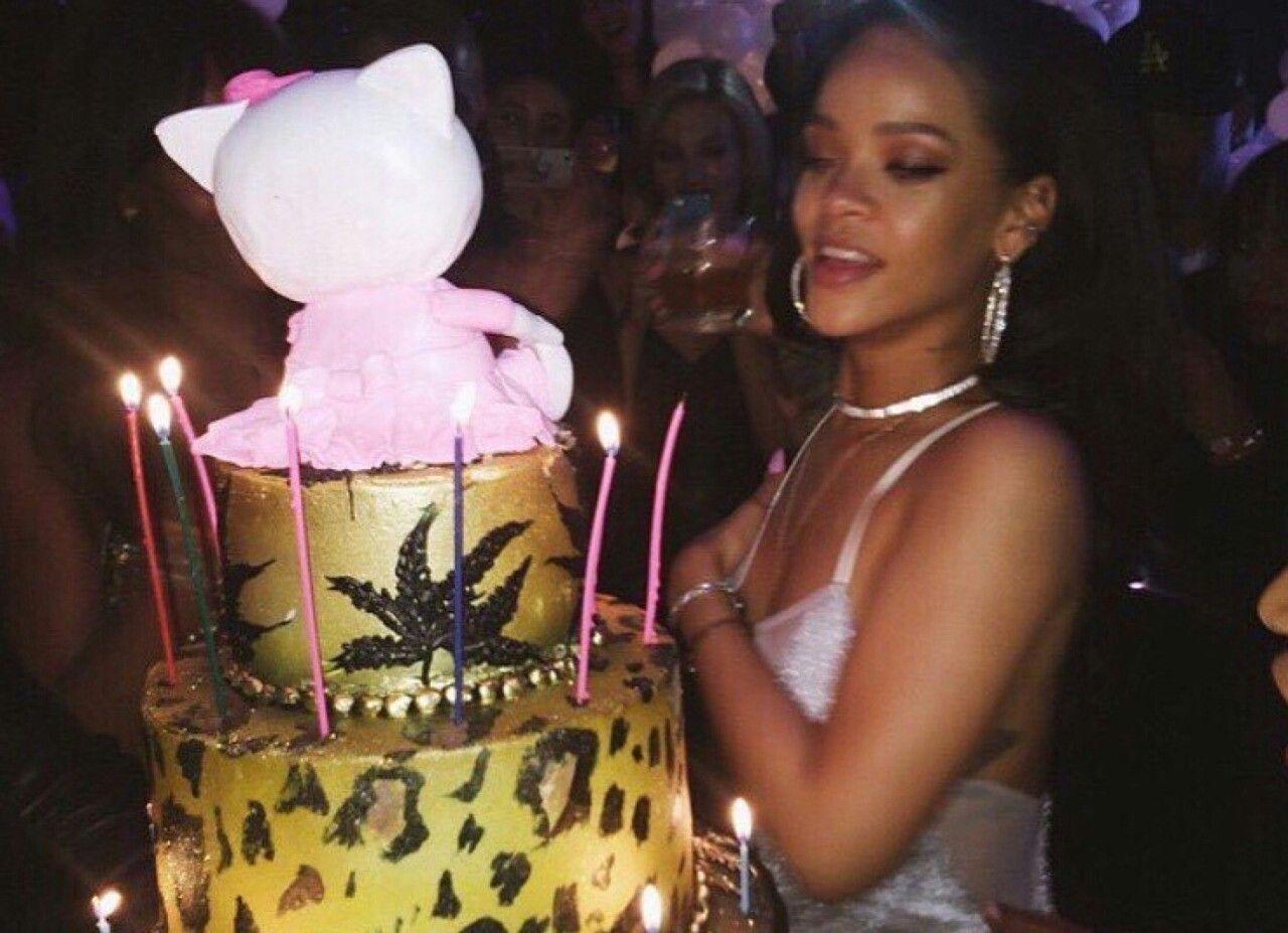 Happy birthday to this beauty Rihanna birthday cake