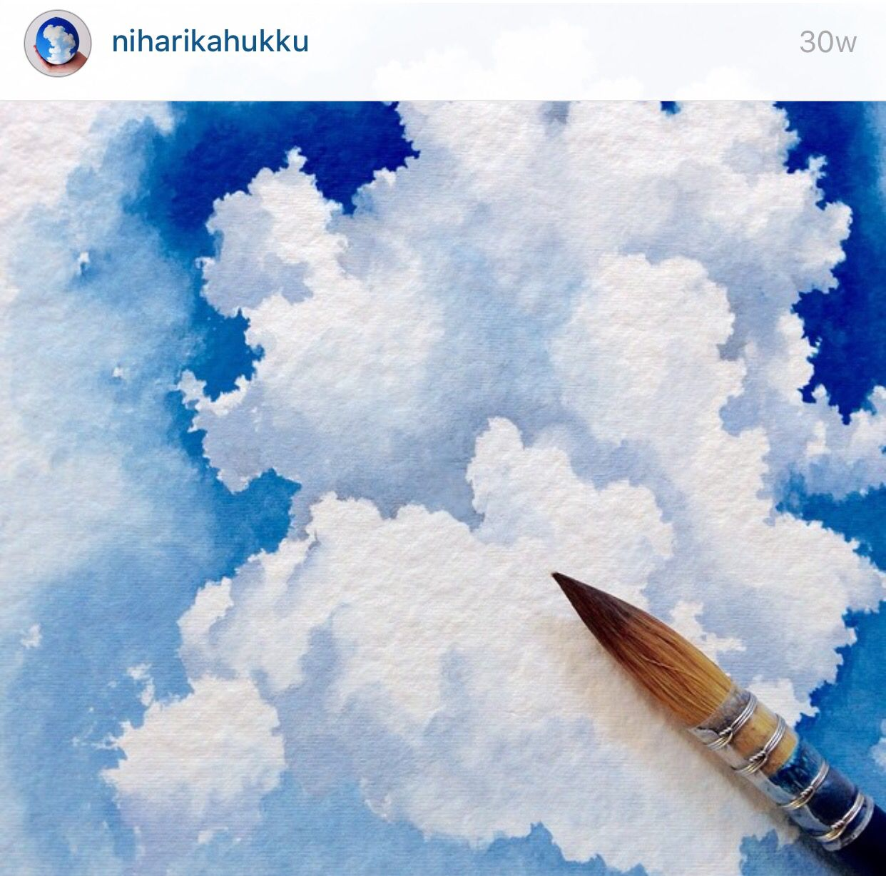 Painting Clouds In Watercolours Watercolor Illustration
