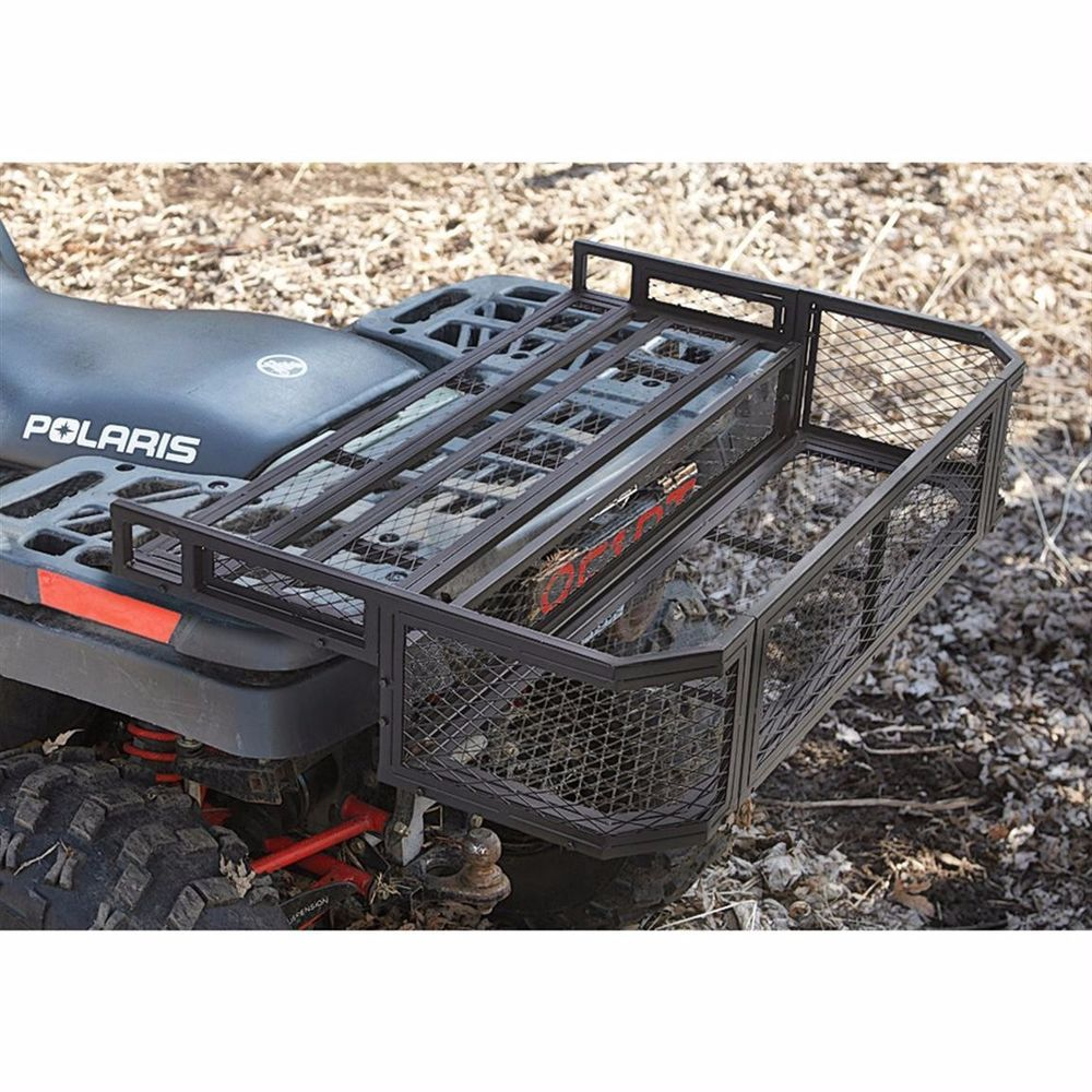 medium resolution of atv universal fit rear drop rack basket guidegear atv utv cargo