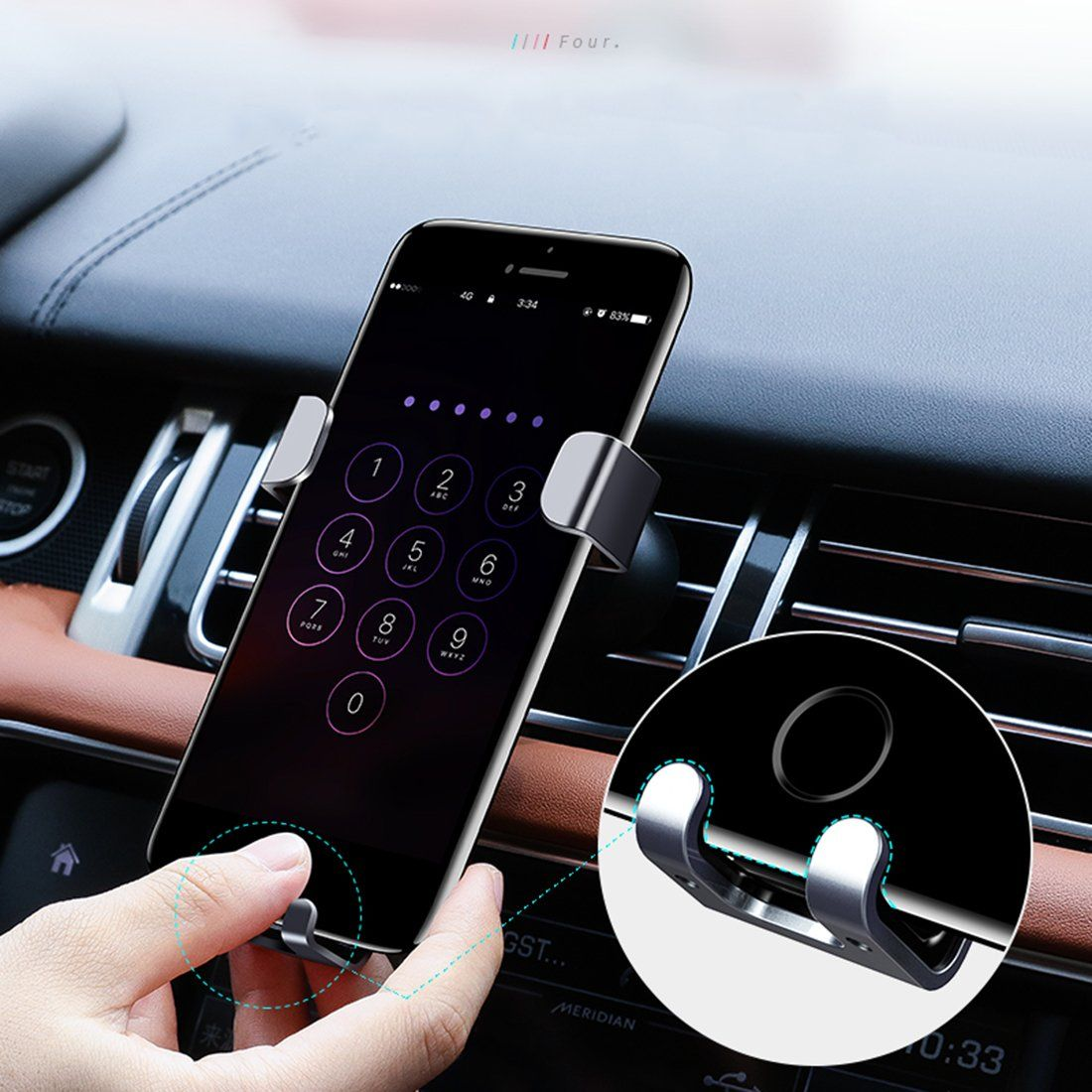 Car Phone Holder Universal Air Vent Mount for iPhone