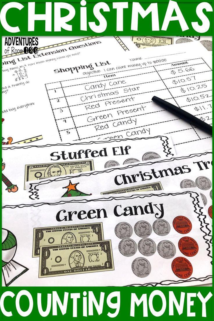 Christmas Counting Money Activity Money activities