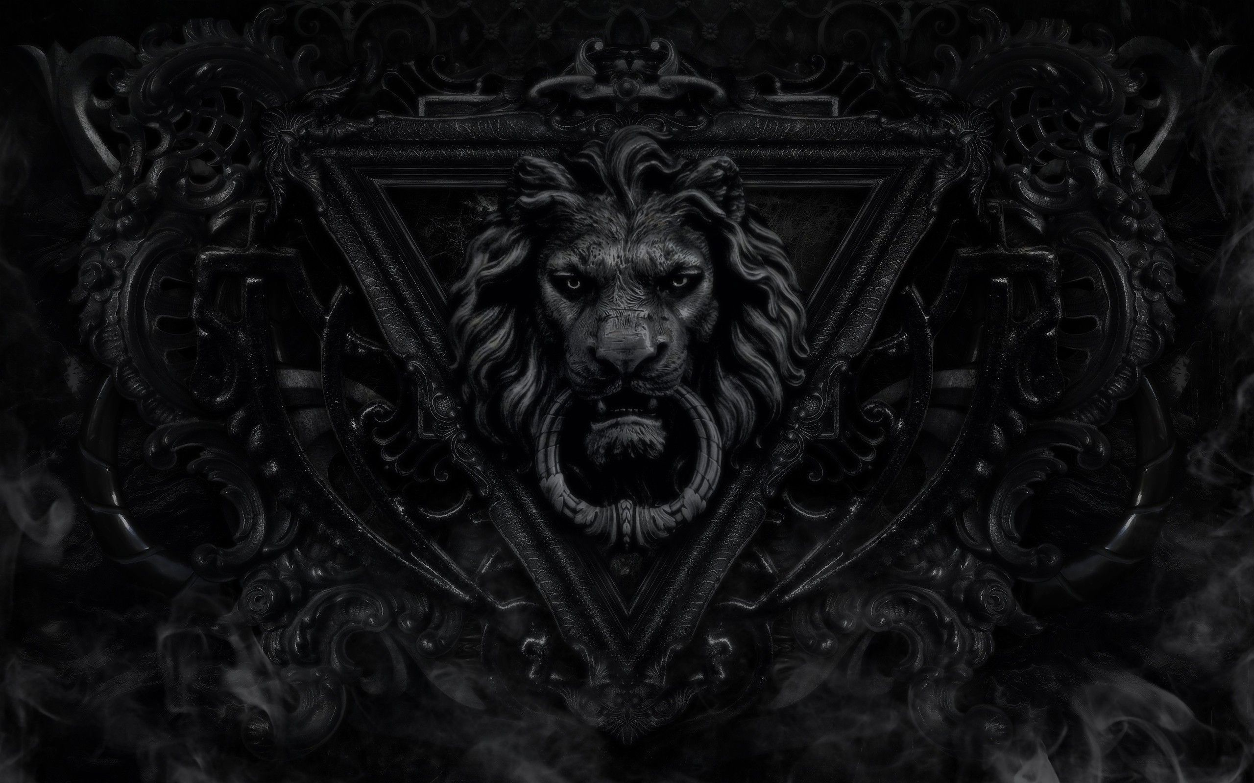 Dark Gothic Lions X Wallpaper