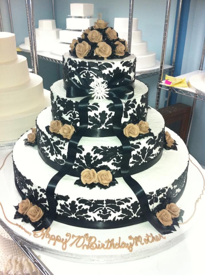 Black and Gold Wedding Cakes!!