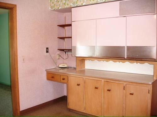 1950s Pink GE Vintage Kitchen Appliances  Wall Mount Refrigerator,Oven And  Range