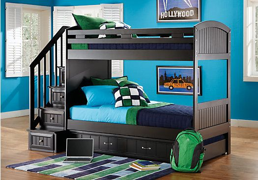 Shop For A Cottage Colors Black Twin Twin Step Bunk Bedroom At Rooms To Go  Kids
