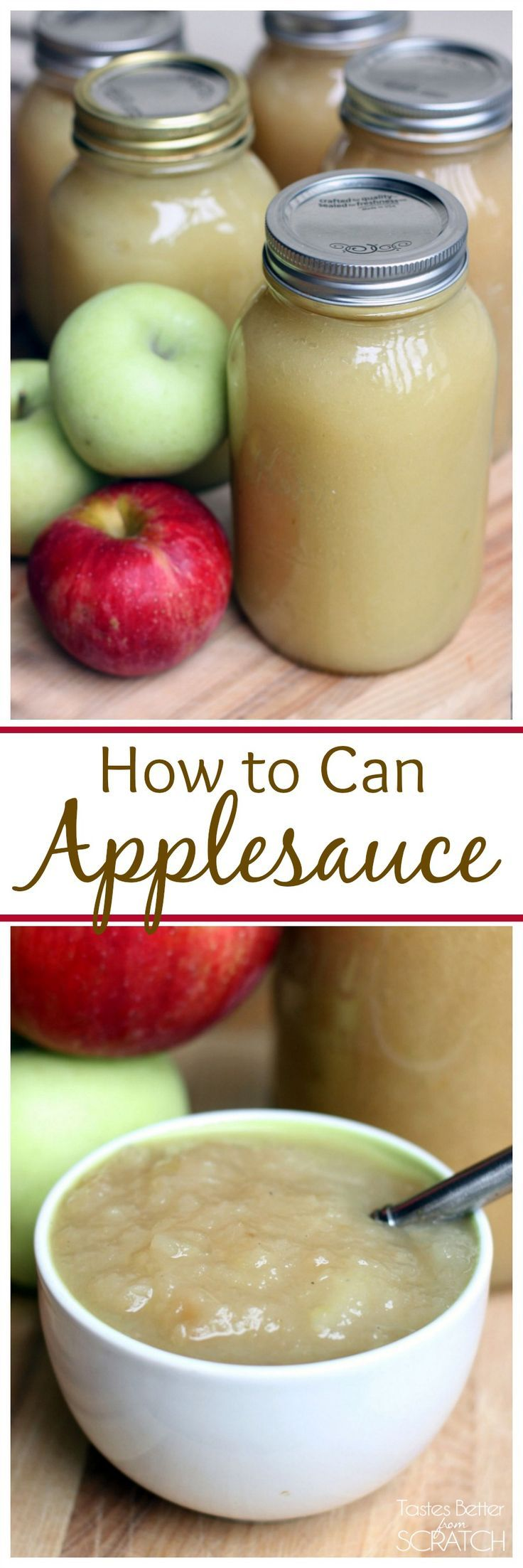 How to Can Applesauce Recipe Canning recipes, Canned