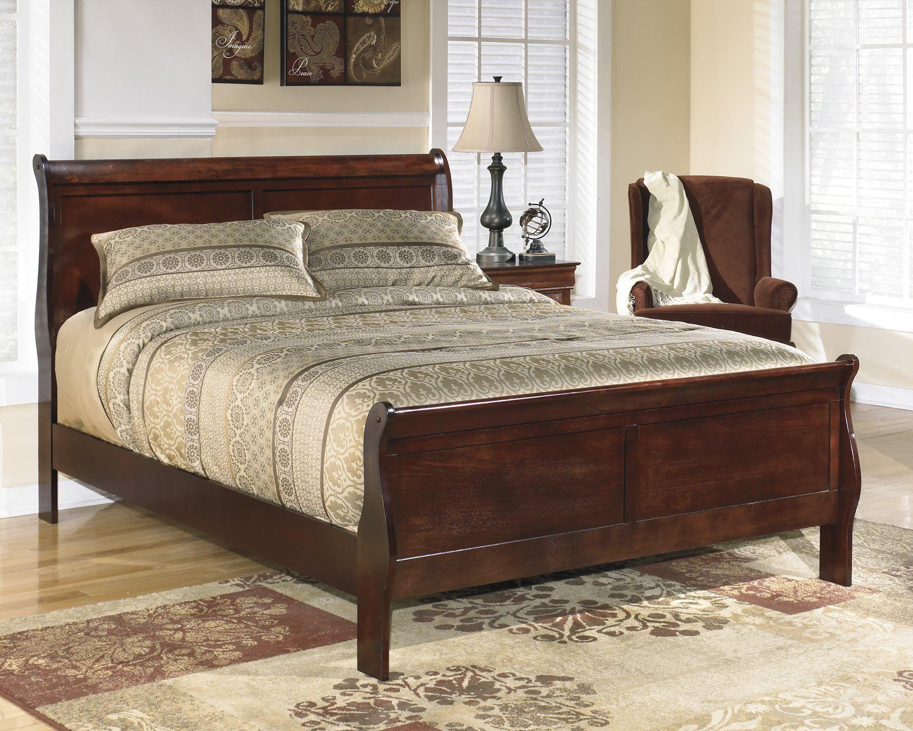 Ashley Alisdair Full Sleigh Bed in Dark Brown * Learn more
