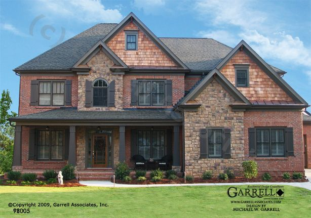 Brick Front Elevation Designs : Garrell associates inc wyndham house plan front