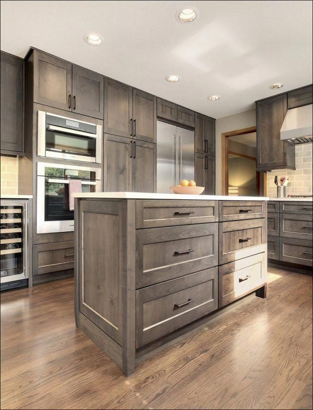 Grey stained kitchen cabinets endearing Grey Stained ...