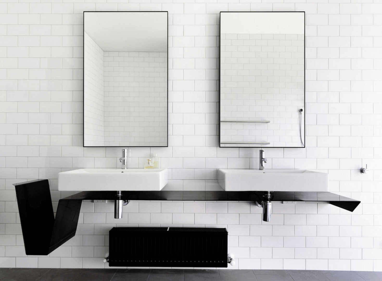 Bathroom : Smart Bathroom Mirror Ideas With Use Two Rectangular ...