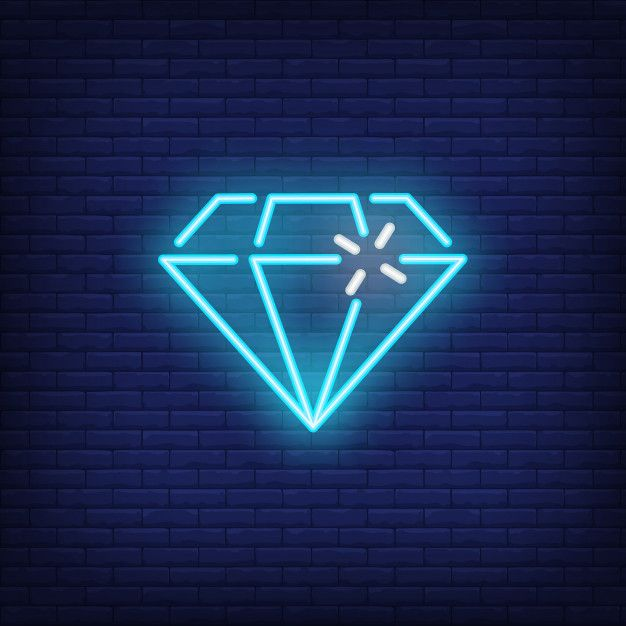 Download Blue Neon Diamond Bright Sign Element Gambling Concept For Night Advertisement For Free Neon Wall Art Wallpaper Iphone Neon Neon Wallpaper Cool blue neon wallpaper