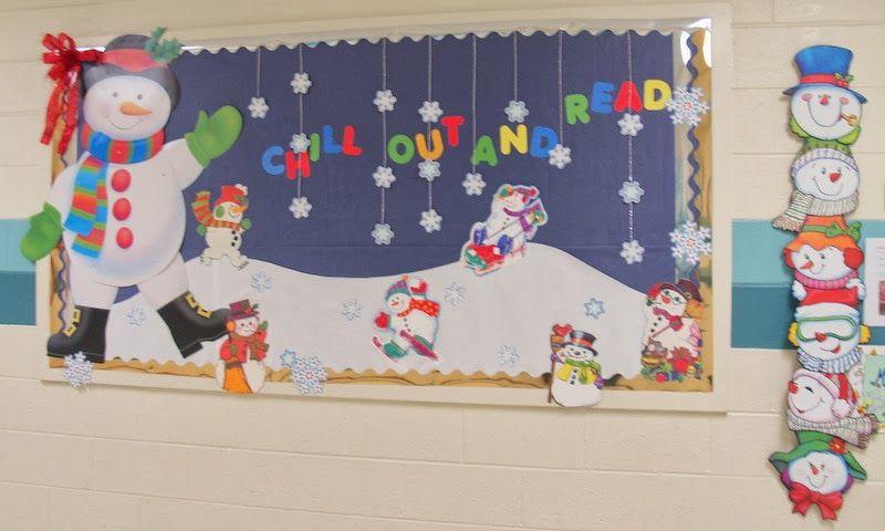 Un toque de mercy decoracion de invierno invierno en el for Decoracion puerta aula infantil