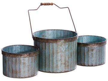 Rustic Metal Flower Pots In Rusted Grey Wholesale Vases Metal Flower Pots Glass Vases Wholesale