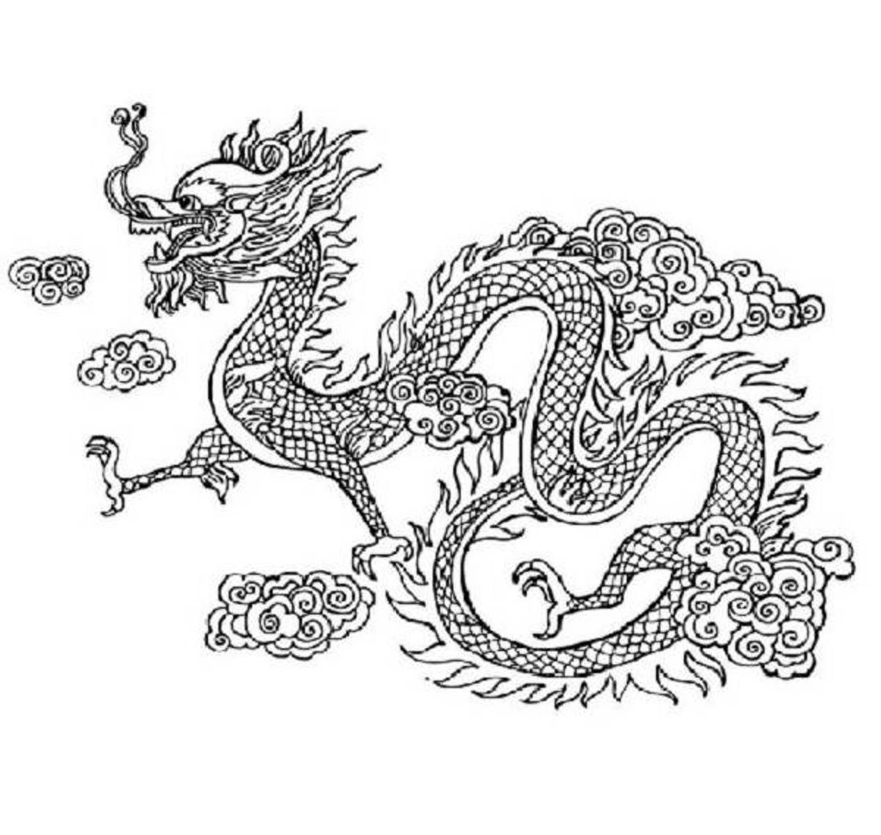 Dragon Coloring Pages Free Chinese New Year Intricate Coloring