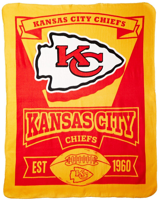 9e7bfcc8 Kansas City Chiefs Est 1960 Fleece Throw 50x60 | Quilts | Kansas ...